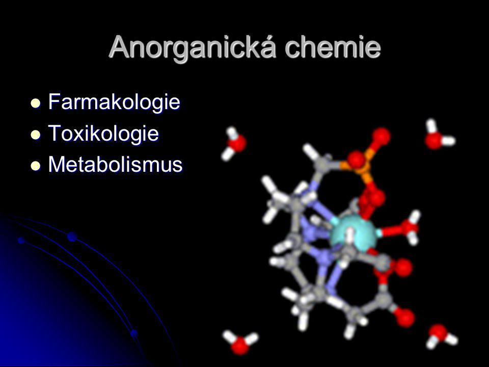 Anorganická chemie Farmakologie Toxikologie Metabolismus