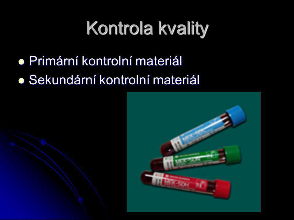 Kontrola kvality Primární kontrolní materiál