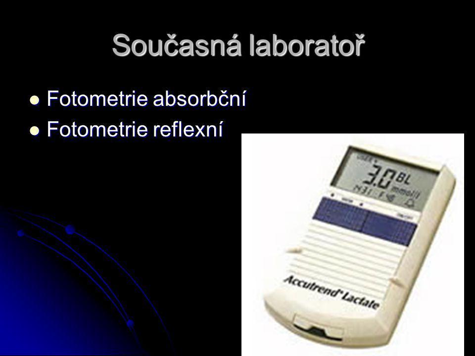 Současná laboratoř Fotometrie absorbční Fotometrie reflexní