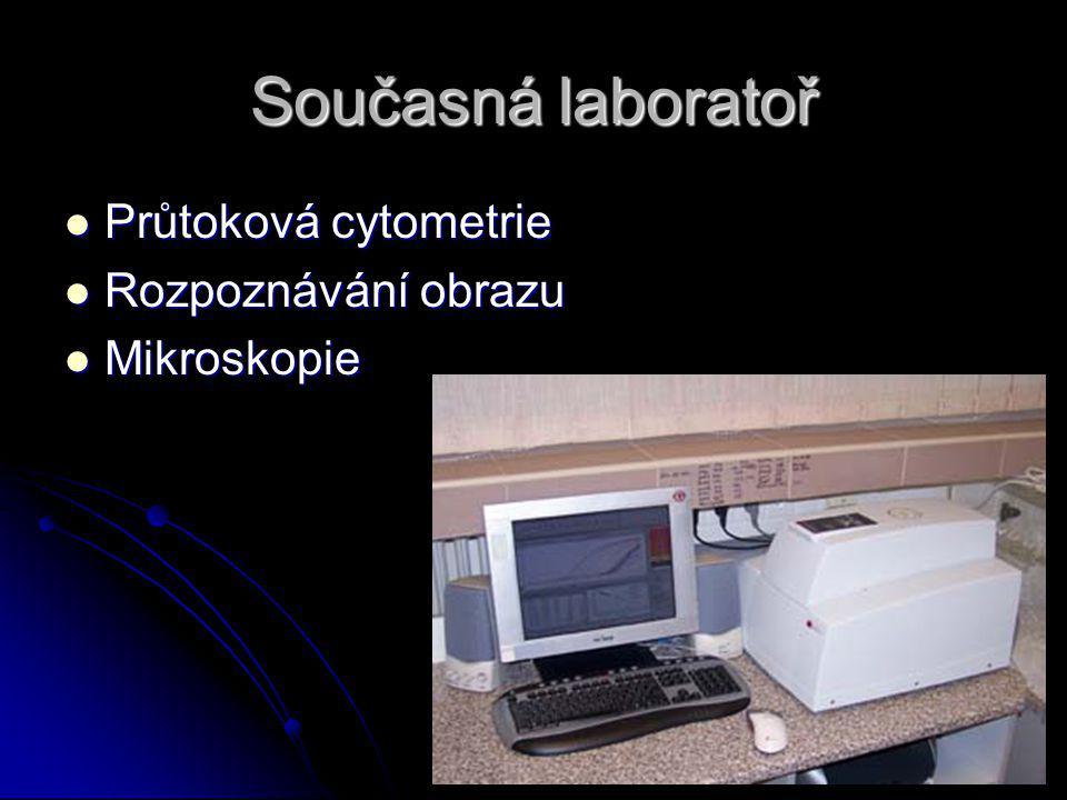 Současná laboratoř Průtoková cytometrie Rozpoznávání obrazu