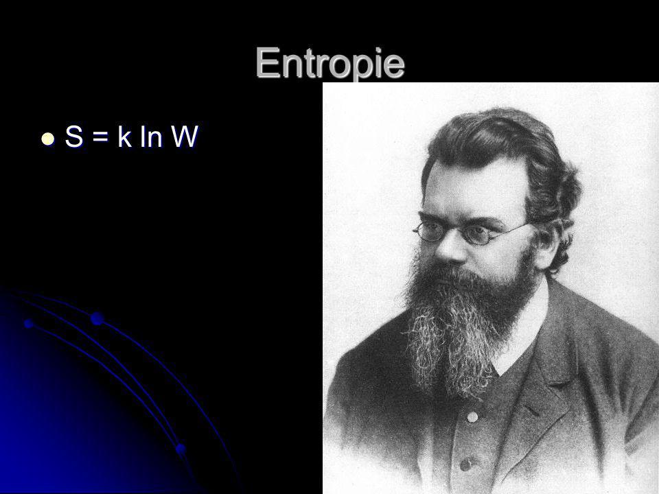Entropie S = k ln W
