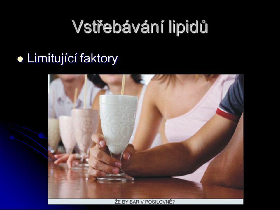 Vstřebávání lipidů Limitující faktory