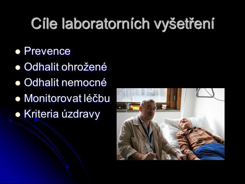 Cíle laboratorních vyšetření