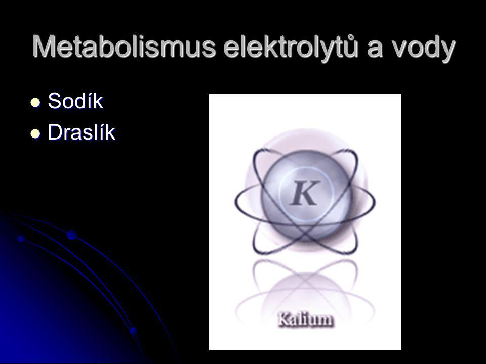 Metabolismus elektrolytů a vody