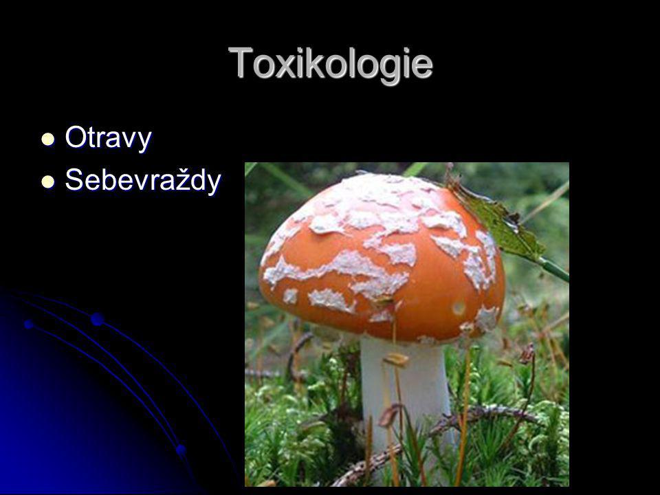 Toxikologie Otravy Sebevraždy