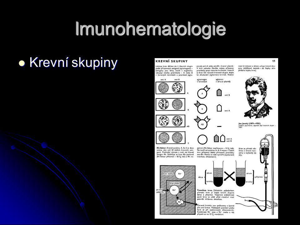 Imunohematologie Krevní skupiny