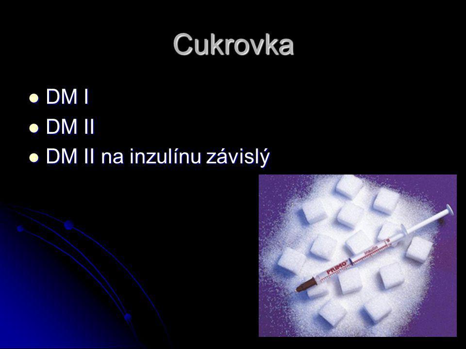 Cukrovka DM I DM II DM II na inzulínu závislý