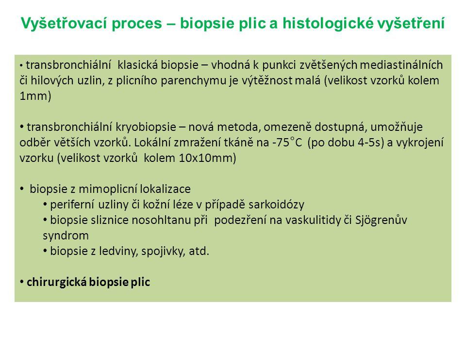 Vyšetřovací proces – biopsie plic a histologické vyšetření