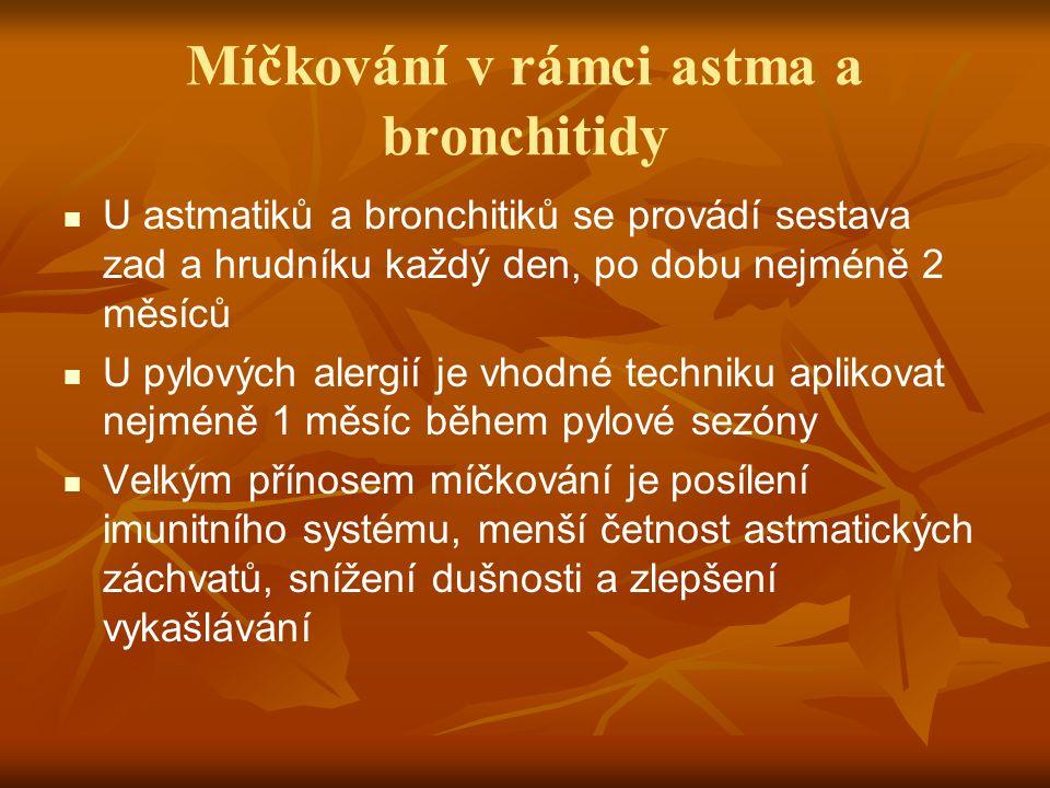 Míčkování v rámci astma a bronchitidy