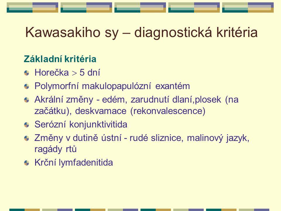 Kawasakiho sy – diagnostická kritéria