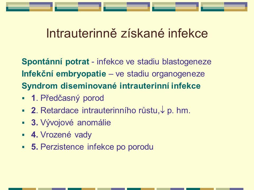 Intrauterinně získané infekce