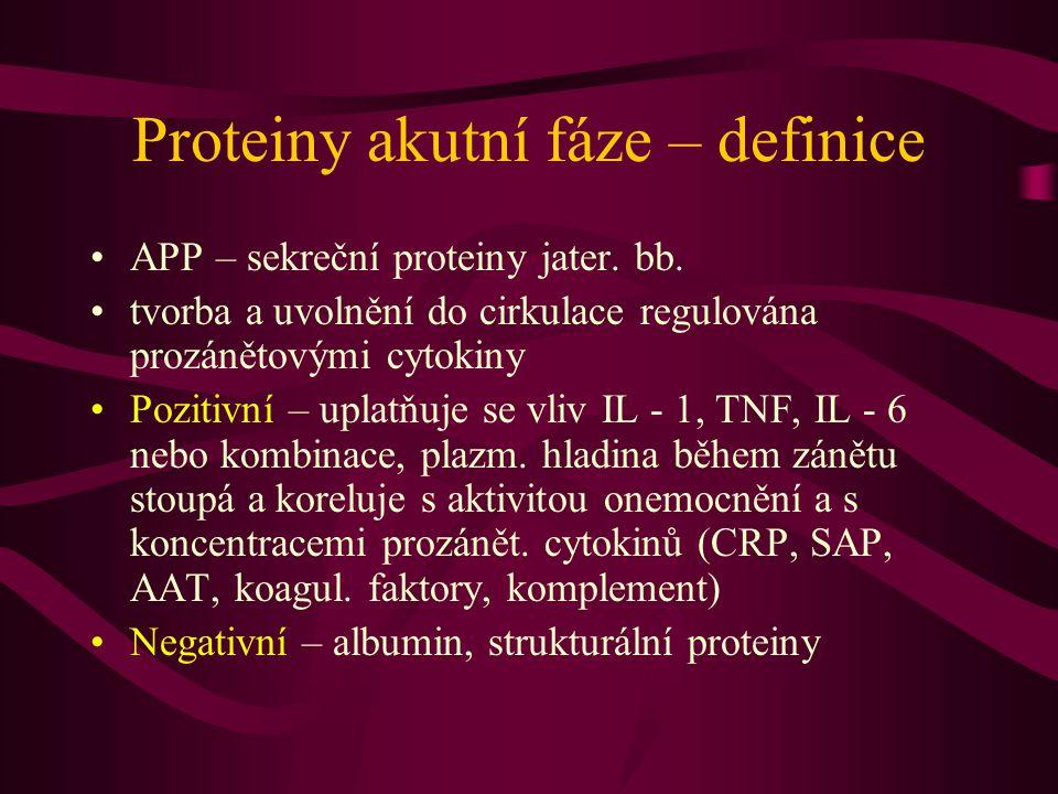 Proteiny akutní fáze – definice