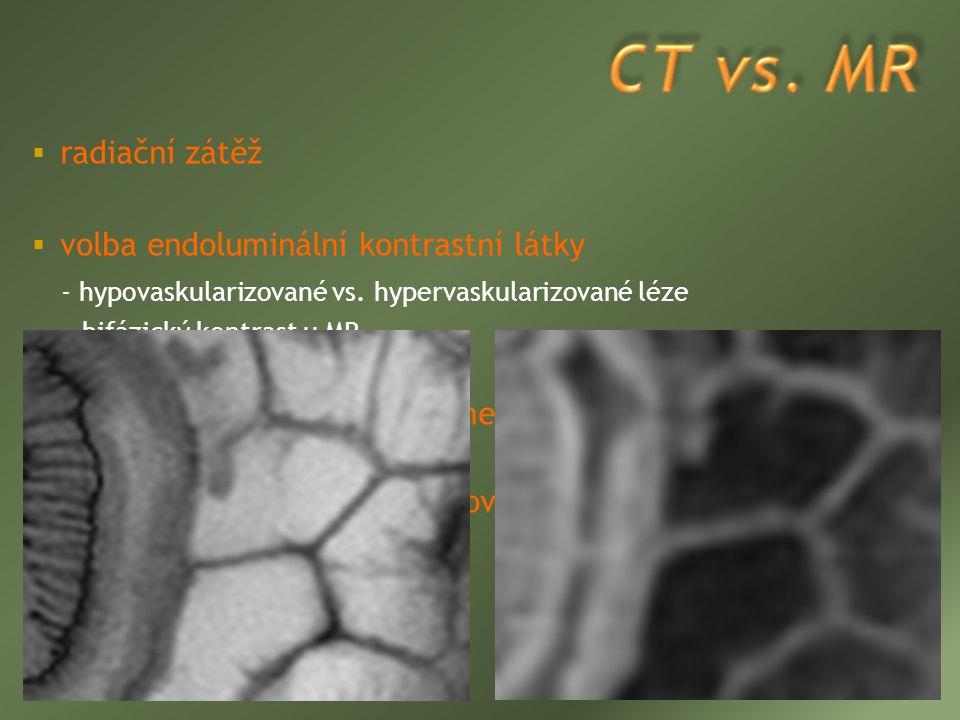 volba endoluminální kontrastní látky
