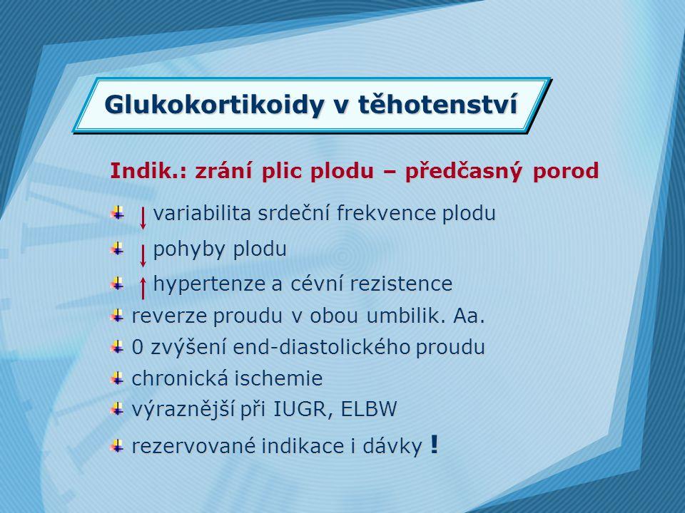 Glukokortikoidy v těhotenství
