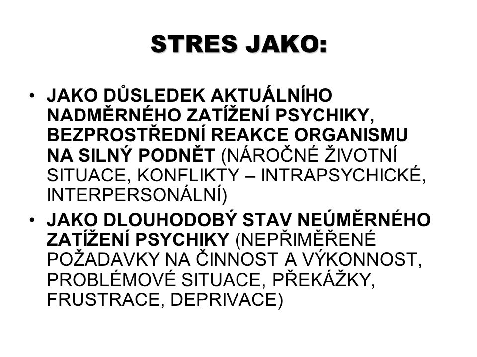 STRES JAKO: