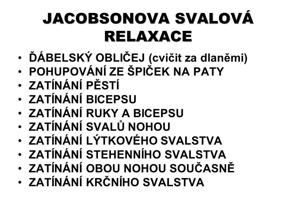JACOBSONOVA SVALOVÁ RELAXACE