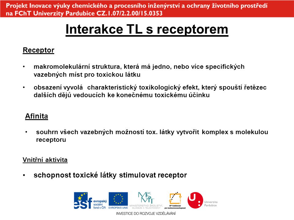 Interakce TL s receptorem