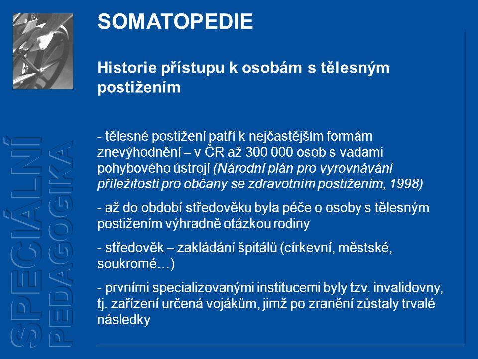 SPECIÁLNÍ PEDAGOGIKA SOMATOPEDIE