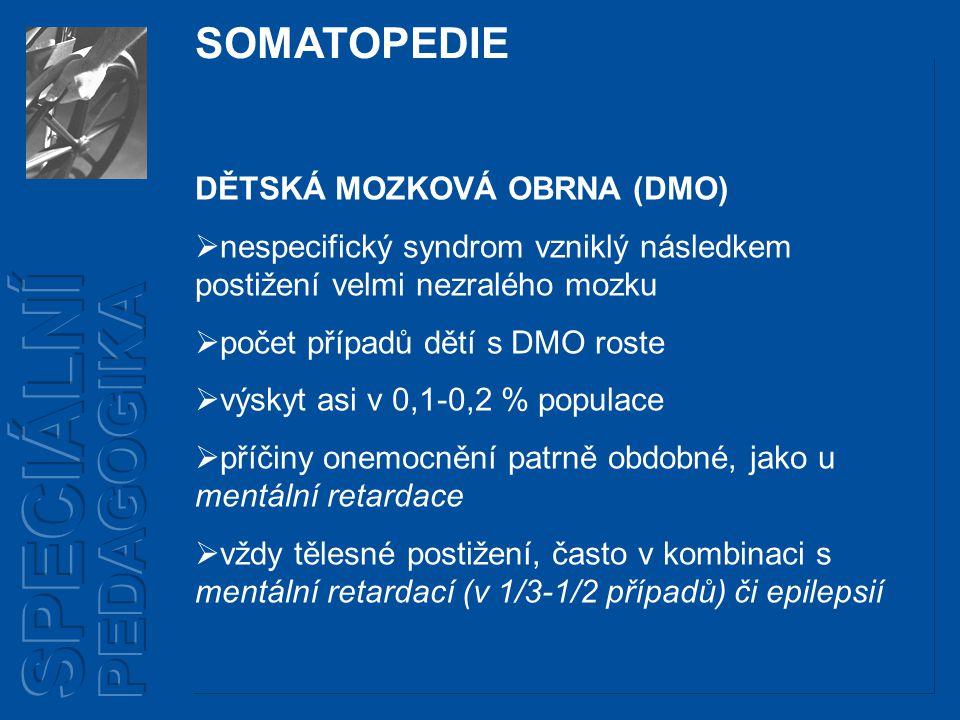 SPECIÁLNÍ PEDAGOGIKA SOMATOPEDIE DĚTSKÁ MOZKOVÁ OBRNA (DMO)