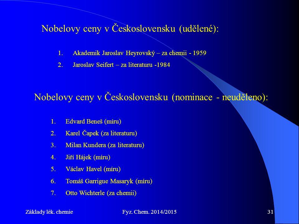 Nobelovy ceny v Československu (udělené):