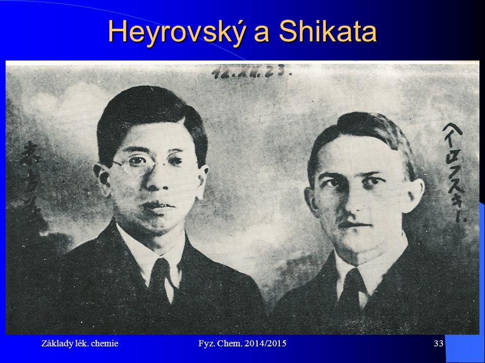 Heyrovský a Shikata Základy lék. chemie Fyz. Chem. 2014/2015