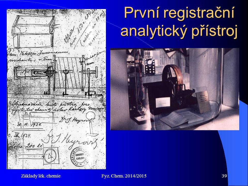 První registrační analytický přístroj