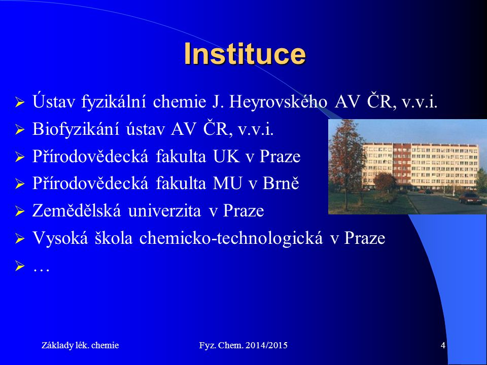 Instituce Ústav fyzikální chemie J. Heyrovského AV ČR, v.v.i.