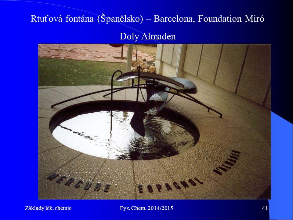 Rtuťová fontána (Španělsko) – Barcelona, Foundation Miró