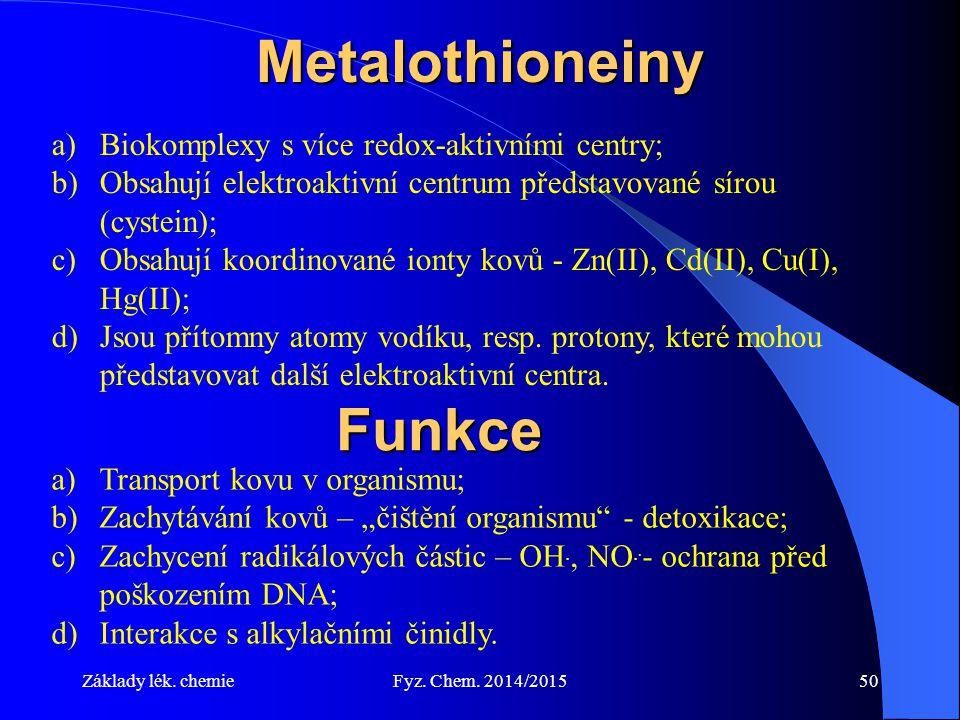 Metalothioneiny Funkce