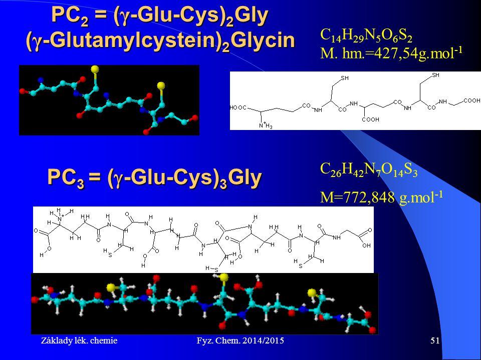 PC2 = (γ-Glu-Cys)2Gly (γ-Glutamylcystein)2Glycin