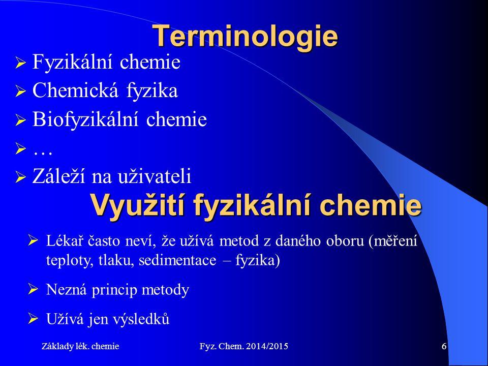 Využití fyzikální chemie