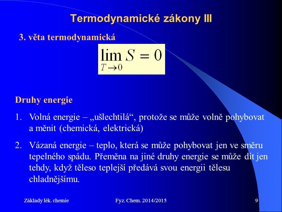 Termodynamické zákony III