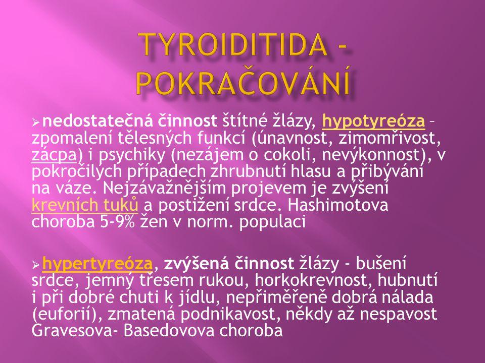 Tyroiditida - pokračování
