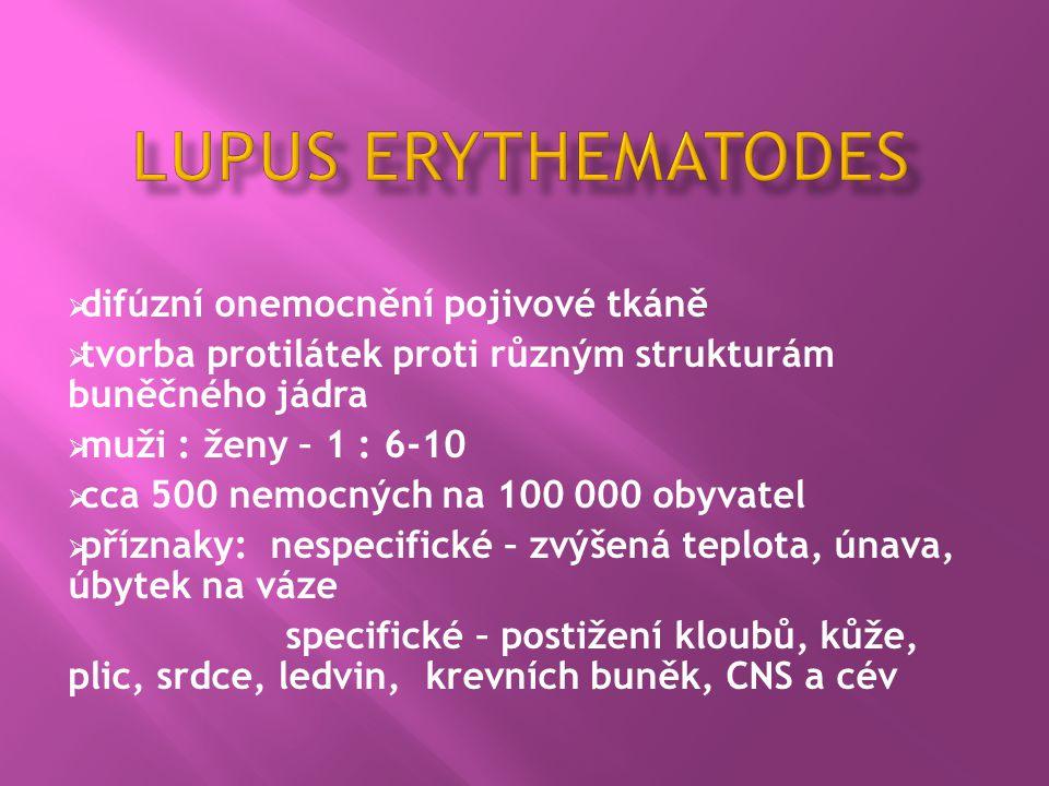 lupus erythematodes difúzní onemocnění pojivové tkáně