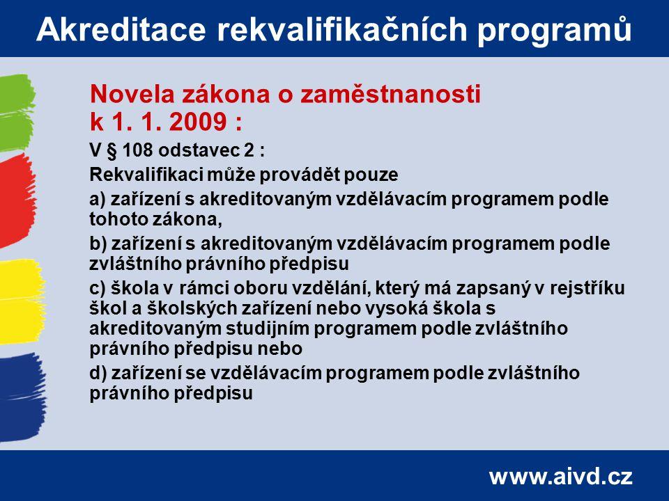 Akreditace rekvalifikačních programů