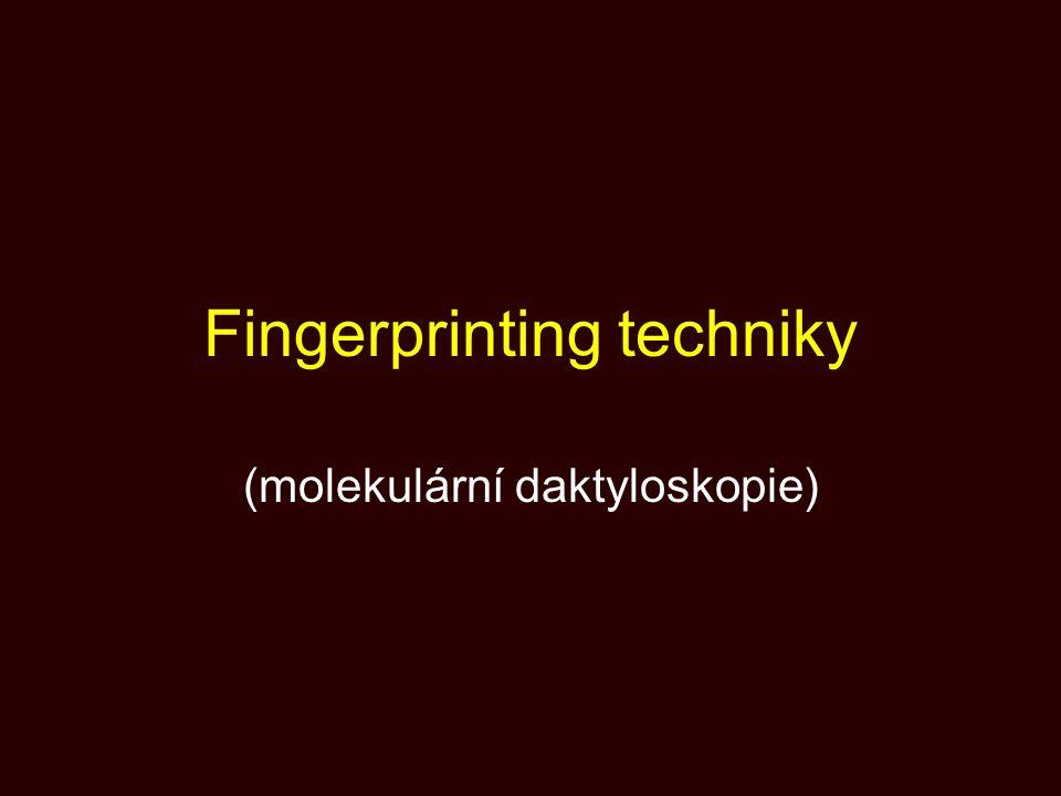 Fingerprinting techniky