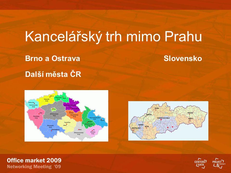 Kancelářský trh mimo Prahu