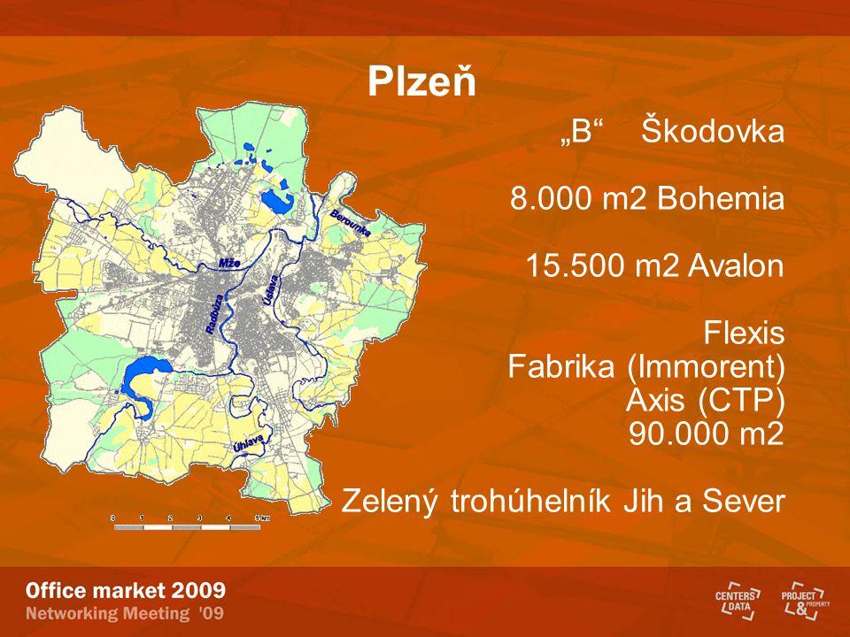 """Plzeň """"B Škodovka 8.000 m2 Bohemia 15.500 m2 Avalon Flexis"""