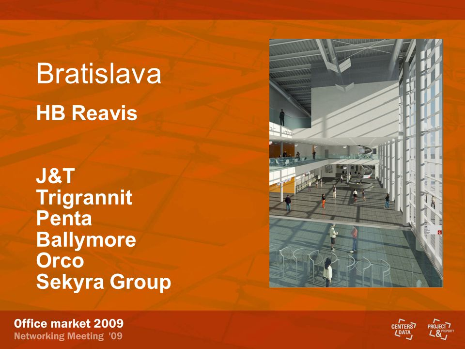 Bratislava HB Reavis J&T Trigrannit Penta Ballymore Orco Sekyra Group