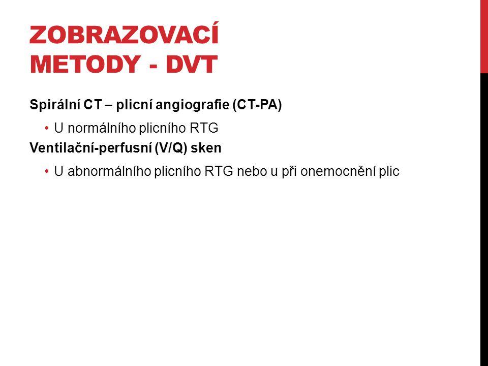 Zobrazovací metody - DVT