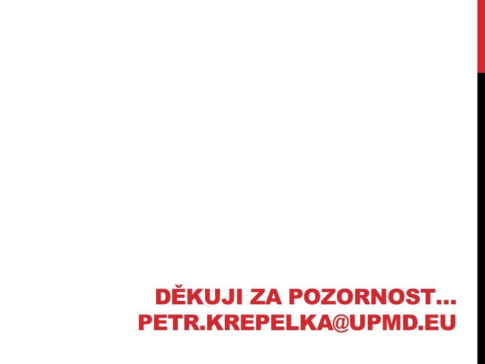 Děkuji za pozornost… petr.krepelka@upmd.eu
