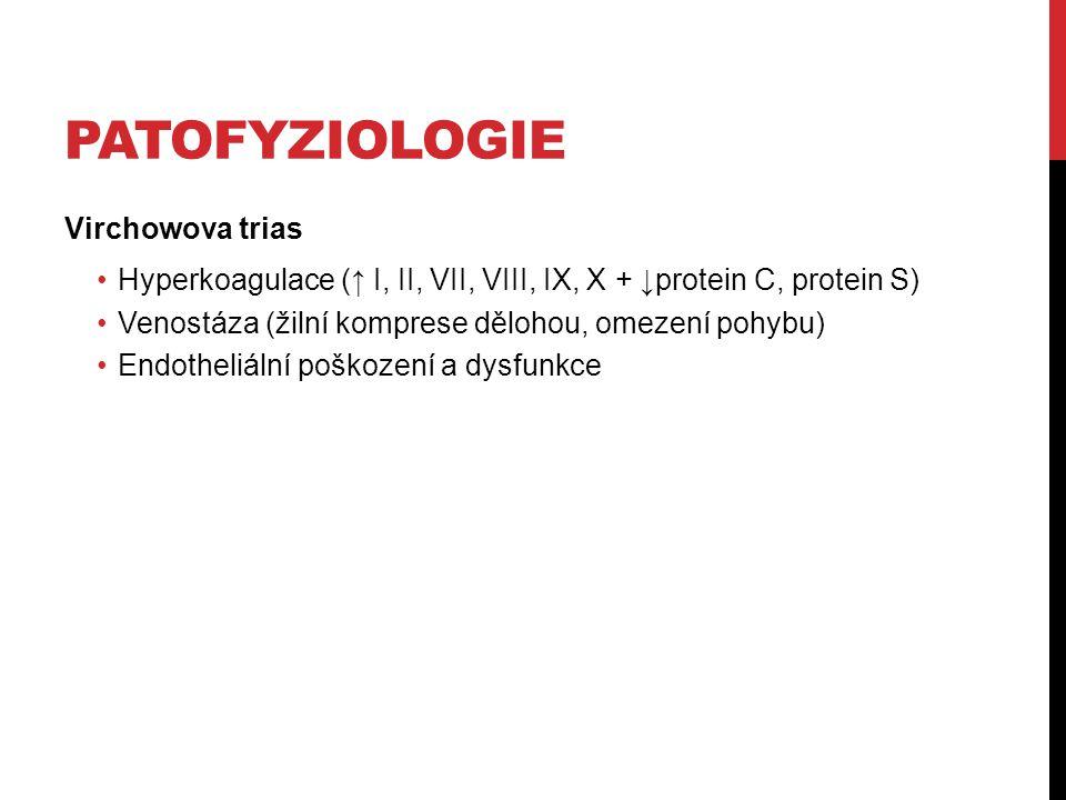Patofyziologie Virchowova trias
