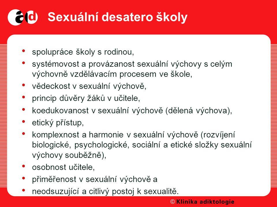 Sexuální desatero školy