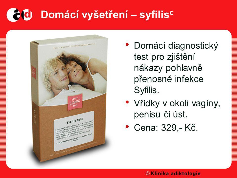 Domácí vyšetření – syfilisc