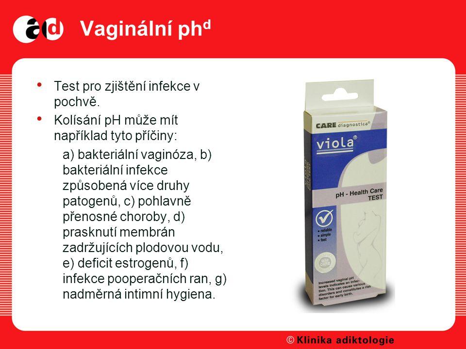 Vaginální phd Test pro zjištění infekce v pochvě.