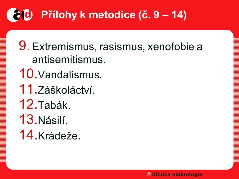 Přílohy k metodice (č. 9 – 14)