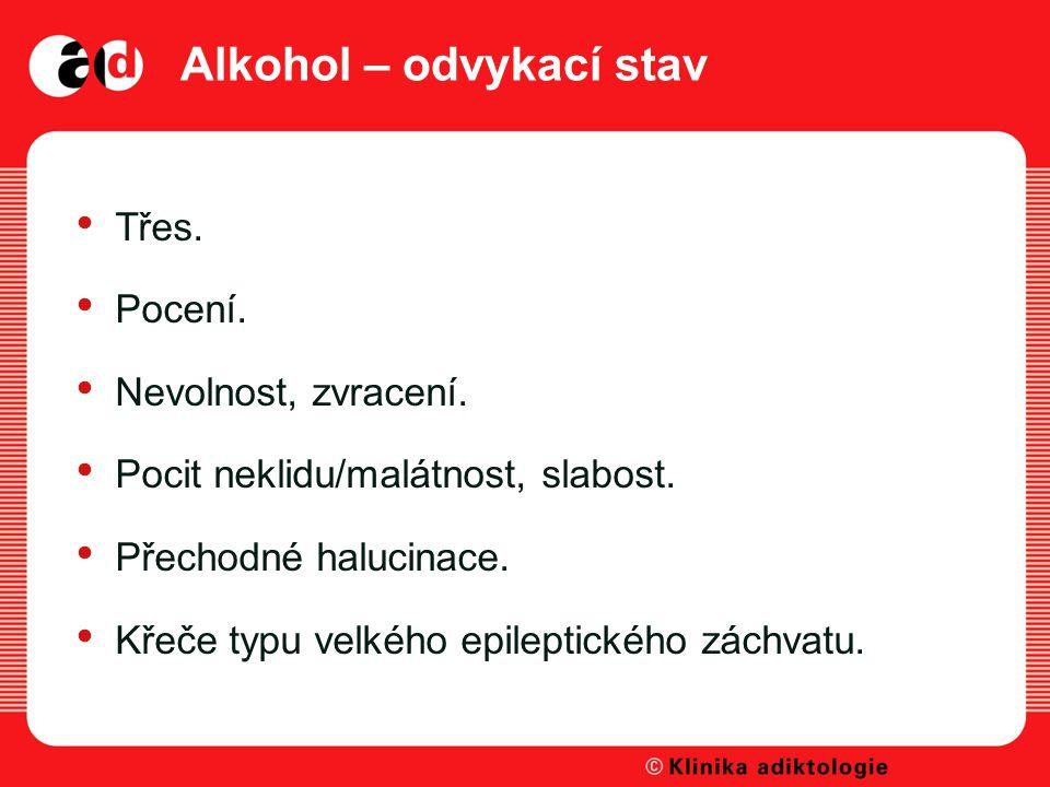 Alkohol – odvykací stav