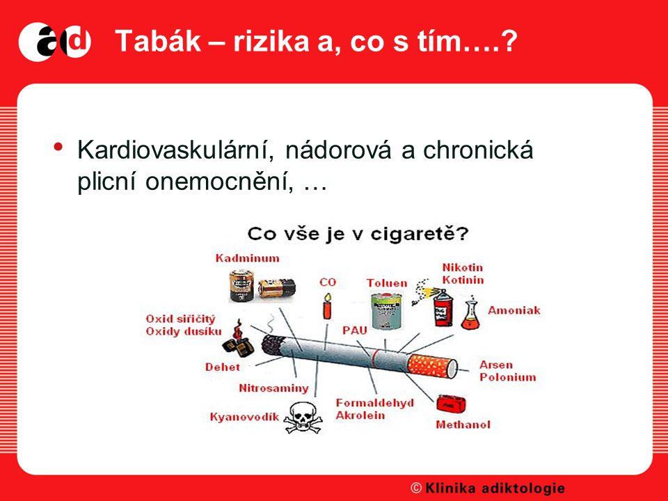 Tabák – rizika a, co s tím….