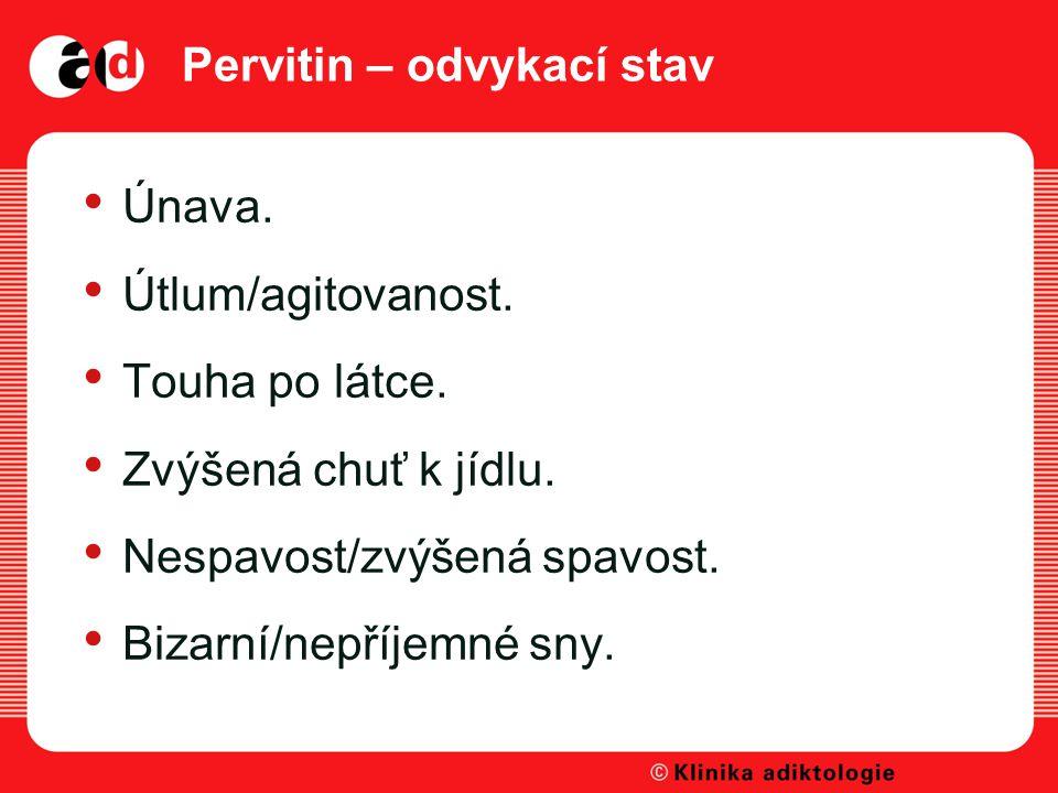 Pervitin – odvykací stav