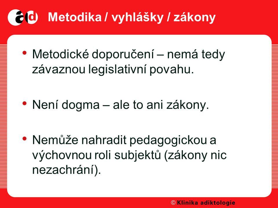 Metodika / vyhlášky / zákony